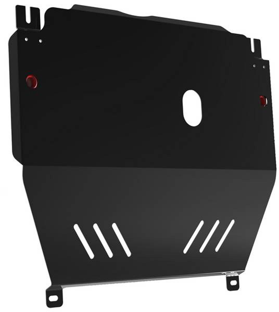 Защита картера и КПП Автоброня Chevrolet Aveo 2012-, сталь 2 мм1.01015.1Защита картера и КПП Автоброня Chevrolet Aveo, МКПП, V - 1,6 2012-, сталь 2 мм, штатный крепеж, 1.01015.1Стальные защиты Автоброня надежно защищают ваш автомобиль от повреждений при наезде на бордюры, выступающие канализационные люки, кромки поврежденного асфальта или при ремонте дорог, не говоря уже о загородных дорогах. - Имеют оптимальное соотношение цена-качество. - Спроектированы с учетом особенностей автомобиля, что делает установку удобной. - Защита устанавливается в штатные места кузова автомобиля. - Является надежной защитой для важных элементов на протяжении долгих лет. - Глубокий штамп дополнительно усиливает конструкцию защиты. - Подштамповка в местах крепления защищает крепеж от срезания. - Технологические отверстия там, где они необходимы для смены масла и слива воды, оборудованные заглушками, закрепленными на защите. Толщина стали 2 мм. В комплекте инструкция по установке. При установке используется штатный крепеж автомобиля.