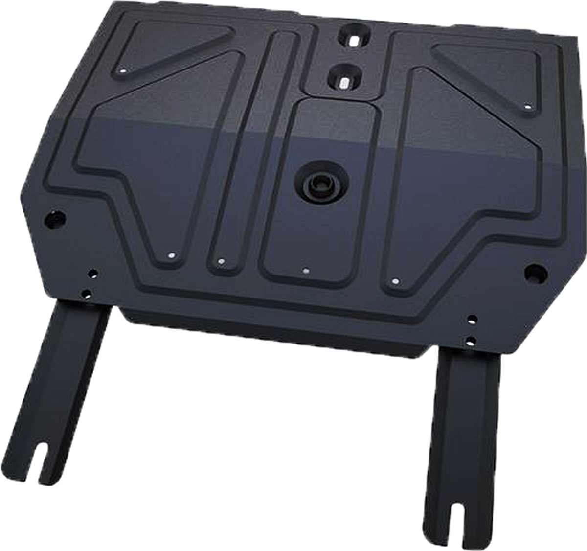 Защита картера и КПП Автоброня Chery Tiggo FL 2013-, сталь 2 мм111.00916.1Защита картера и КПП Автоброня Chery Tiggo FL, V - 1,6 2013-, сталь 2 мм, комплект крепежа, 111.00916.1Стальные защиты Автоброня надежно защищают ваш автомобиль от повреждений при наезде на бордюры, выступающие канализационные люки, кромки поврежденного асфальта или при ремонте дорог, не говоря уже о загородных дорогах. - Имеют оптимальное соотношение цена-качество. - Спроектированы с учетом особенностей автомобиля, что делает установку удобной. - Защита устанавливается в штатные места кузова автомобиля. - Является надежной защитой для важных элементов на протяжении долгих лет. - Глубокий штамп дополнительно усиливает конструкцию защиты. - Подштамповка в местах крепления защищает крепеж от срезания. - Технологические отверстия там, где они необходимы для смены масла и слива воды, оборудованные заглушками, закрепленными на защите. Толщина стали 2 мм. В комплекте крепеж и инструкция по установке.