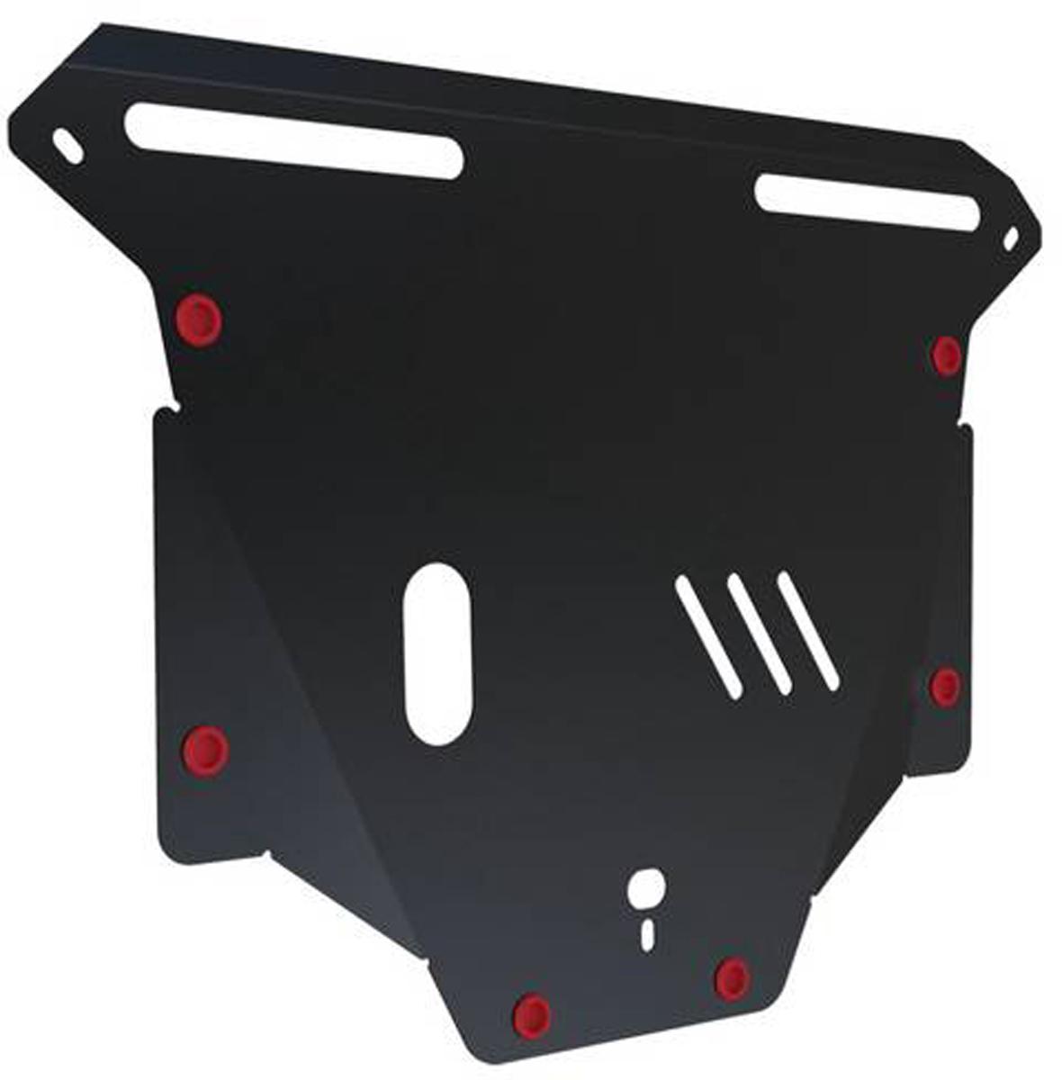 Защита картера и КПП Автоброня Honda CR-V 2002-2006, сталь 2 мм111.02110.1Защита картера и КПП Автоброня Honda CR-V II 2002-2006, сталь 2 мм, комплект крепежа, 111.02110.1Стальные защиты Автоброня надежно защищают ваш автомобиль от повреждений при наезде на бордюры, выступающие канализационные люки, кромки поврежденного асфальта или при ремонте дорог, не говоря уже о загородных дорогах. - Имеют оптимальное соотношение цена-качество. - Спроектированы с учетом особенностей автомобиля, что делает установку удобной. - Защита устанавливается в штатные места кузова автомобиля. - Является надежной защитой для важных элементов на протяжении долгих лет. - Глубокий штамп дополнительно усиливает конструкцию защиты. - Подштамповка в местах крепления защищает крепеж от срезания. - Технологические отверстия там, где они необходимы для смены масла и слива воды, оборудованные заглушками, закрепленными на защите. Толщина стали 2 мм. В комплекте крепеж и инструкция по установке.