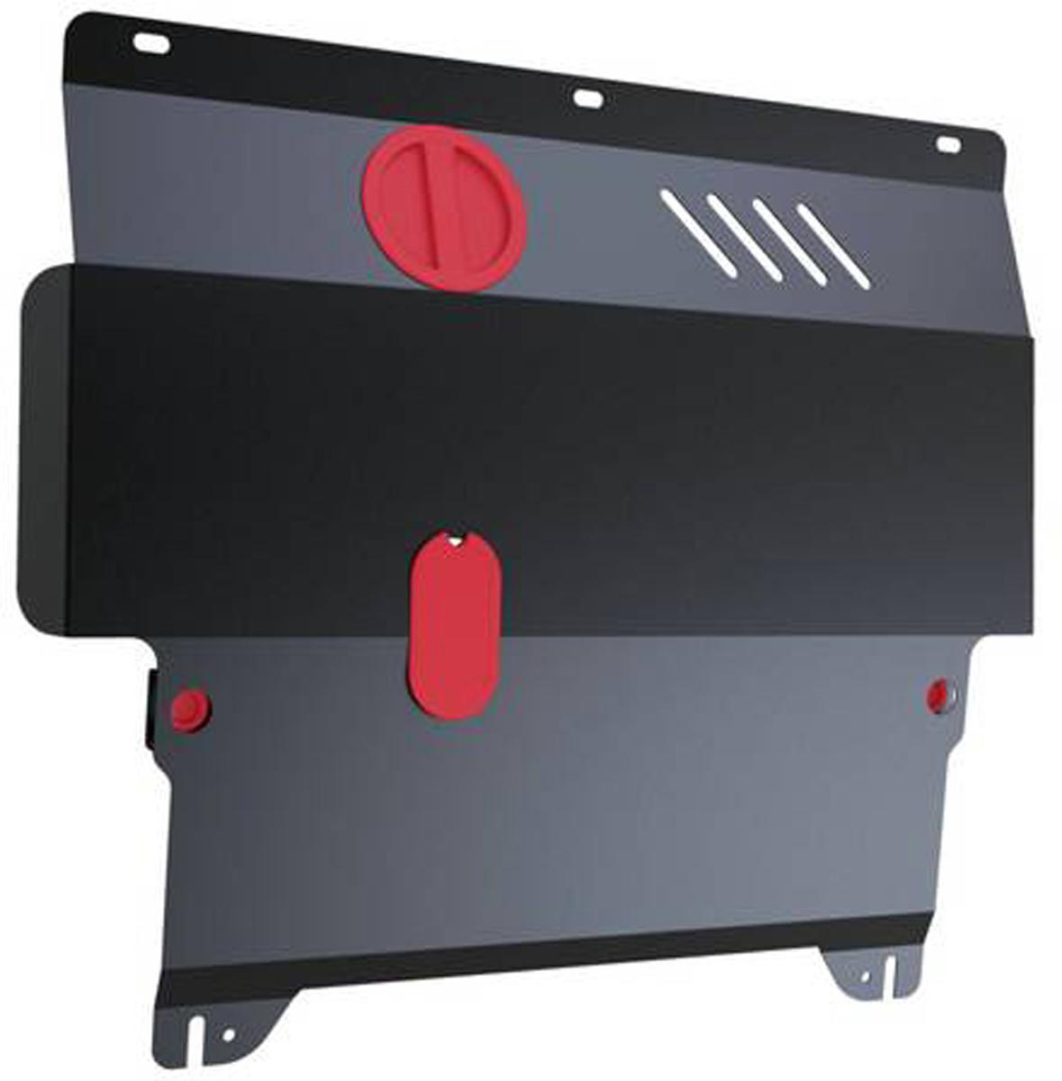 Защита картера и КПП Автоброня Mazda 2 2008-2015/Mazda Demio 2008-2015, сталь 2 мм111.03801.2Защита картера и КПП Автоброня для Mazda 2, V - 1,5 2008-2015/Mazda Demio, V - 1,5 2008-2015, сталь 2 мм, комплект крепежа, 111.03801.2Стальные защиты Автоброня надежно защищают ваш автомобиль от повреждений при наезде на бордюры, выступающие канализационные люки, кромки поврежденного асфальта или при ремонте дорог, не говоря уже о загородных дорогах. - Имеют оптимальное соотношение цена-качество. - Спроектированы с учетом особенностей автомобиля, что делает установку удобной. - Защита устанавливается в штатные места кузова автомобиля. - Является надежной защитой для важных элементов на протяжении долгих лет. - Глубокий штамп дополнительно усиливает конструкцию защиты. - Подштамповка в местах крепления защищает крепеж от срезания. - Технологические отверстия там, где они необходимы для смены масла и слива воды, оборудованные заглушками, закрепленными на защите. Толщина стали 2 мм. В комплекте крепеж и инструкция по установке.