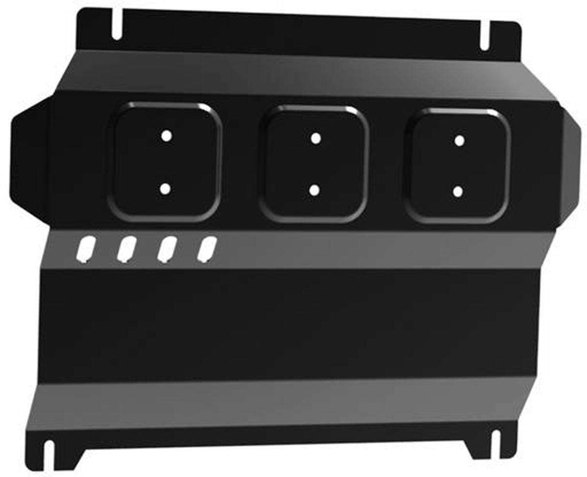 Защита картера Автоброня Mitsubishi L200 2006-2015/Mitsubishi Pajero Sport 2008-2016, сталь 2 мм111.04006.1Защита картера Автоброня для Mitsubishi L200 2006-2015/Mitsubishi Pajero Sport 2008-2016, сталь 2 мм, комплект крепежа, 111.04006.1 Дополнительно можно приобрести другие защитные элементы из комплекта: защита радиатора - 111.04005.1, защита КПП - 111.04024.1, защита РК - 111.04025.1Стальные защиты Автоброня надежно защищают ваш автомобиль от повреждений при наезде на бордюры, выступающие канализационные люки, кромки поврежденного асфальта или при ремонте дорог, не говоря уже о загородных дорогах. - Имеют оптимальное соотношение цена-качество. - Спроектированы с учетом особенностей автомобиля, что делает установку удобной. - Защита устанавливается в штатные места кузова автомобиля. - Является надежной защитой для важных элементов на протяжении долгих лет. - Глубокий штамп дополнительно усиливает конструкцию защиты. - Подштамповка в местах крепления защищает крепеж от срезания. - Технологические отверстия там, где они необходимы для смены масла и слива воды, оборудованные заглушками, закрепленными на защите. Толщина стали 2 мм. В комплекте крепеж и инструкция по установке.