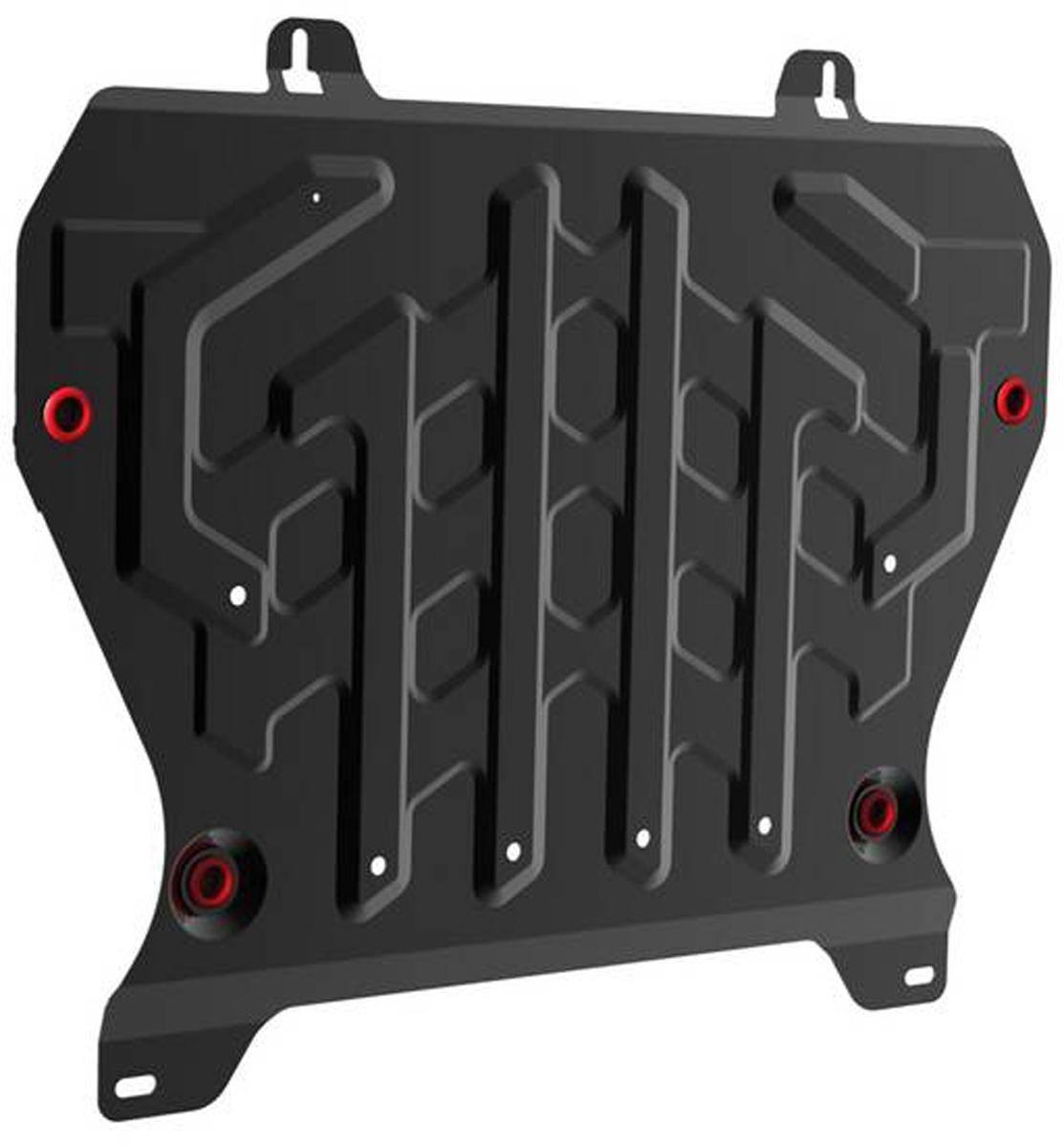 Защита картера и КПП Автоброня Nissan Juke 2011-, сталь 2 мм111.04141.1Защита картера и КПП Автоброня Nissan Juke картер, V - 1,6 2011-, сталь 2 мм, комплект крепежа, 111.04141.1Стальные защиты Автоброня надежно защищают ваш автомобиль от повреждений при наезде на бордюры, выступающие канализационные люки, кромки поврежденного асфальта или при ремонте дорог, не говоря уже о загородных дорогах. - Имеют оптимальное соотношение цена-качество. - Спроектированы с учетом особенностей автомобиля, что делает установку удобной. - Защита устанавливается в штатные места кузова автомобиля. - Является надежной защитой для важных элементов на протяжении долгих лет. - Глубокий штамп дополнительно усиливает конструкцию защиты. - Подштамповка в местах крепления защищает крепеж от срезания. - Технологические отверстия там, где они необходимы для смены масла и слива воды, оборудованные заглушками, закрепленными на защите. Толщина стали 2 мм. В комплекте крепеж и инструкция по установке.