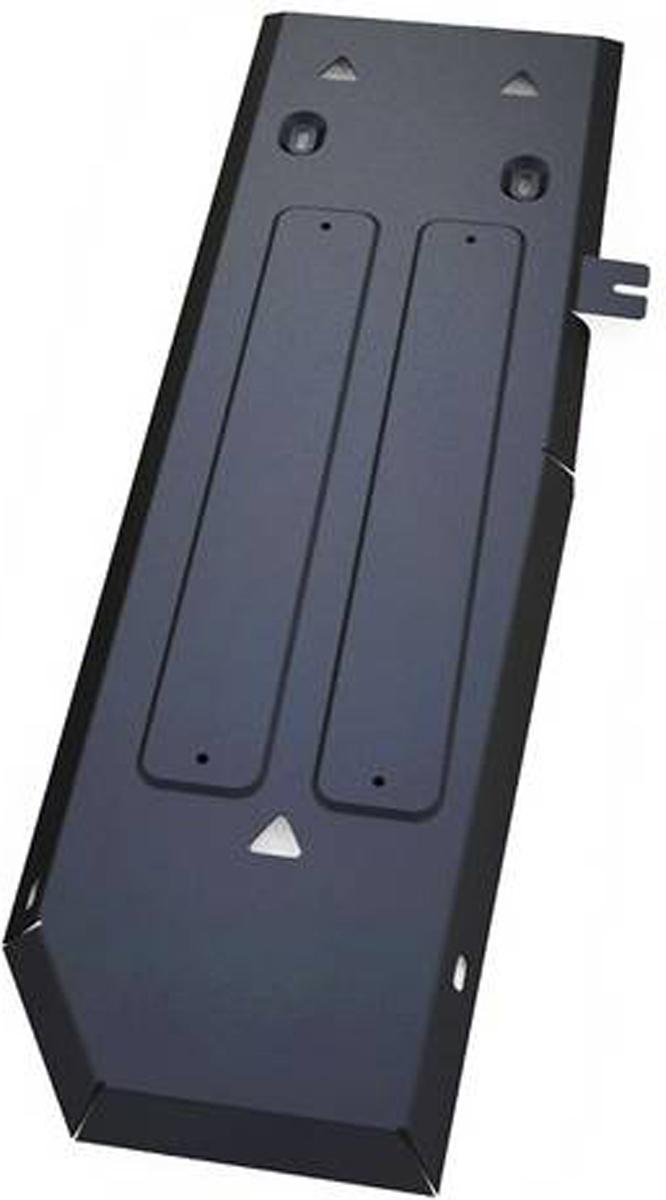 Защита топливного бака Автоброня Ford Ranger 2012-, сталь 2 мм111.01845.1Защита топливного бака Автоброня Ford Ranger, V - 2,2 2012-, сталь 2 мм, комплект крепежа, 111.01845.1Стальные защиты Автоброня надежно защищают ваш автомобиль от повреждений при наезде на бордюры, выступающие канализационные люки, кромки поврежденного асфальта или при ремонте дорог, не говоря уже о загородных дорогах.- Имеют оптимальное соотношение цена-качество.- Спроектированы с учетом особенностей автомобиля, что делает установку удобной.- Защита устанавливается в штатные места кузова автомобиля.- Является надежной защитой для важных элементов на протяжении долгих лет.- Глубокий штамп дополнительно усиливает конструкцию защиты.- Подштамповка в местах крепления защищает крепеж от срезания.- Технологические отверстия там, где они необходимы для смены масла и слива воды, оборудованные заглушками, закрепленными на защите.Толщина стали 2 мм.В комплекте крепеж и инструкция по установке.Уважаемые клиенты!Обращаем ваше внимание на тот факт, что защита имеет форму, соответствующую модели данного автомобиля. Наличие глубокого штампа и лючков для смены фильтров/масла предусмотрено не на всех защитах. Фото служит для визуального восприятия товара.