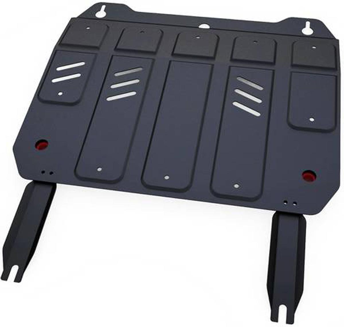 Защита картера и КПП Автоброня Geely MK 2008-/Geely GC6 2014-/Geely MK Cross 2011-, сталь 2 мм111.01912.1Защита картера и КПП Автоброня для Geely MK, V - 1,5 2008-/Geely GC6, V - 1,5 2014-/Geely MK Cross, V - 1,5 2011-, сталь 2 мм, комплект крепежа, 111.01912.1Стальные защиты Автоброня надежно защищают ваш автомобиль от повреждений при наезде на бордюры, выступающие канализационные люки, кромки поврежденного асфальта или при ремонте дорог, не говоря уже о загородных дорогах.- Имеют оптимальное соотношение цена-качество.- Спроектированы с учетом особенностей автомобиля, что делает установку удобной.- Защита устанавливается в штатные места кузова автомобиля.- Является надежной защитой для важных элементов на протяжении долгих лет.- Глубокий штамп дополнительно усиливает конструкцию защиты.- Подштамповка в местах крепления защищает крепеж от срезания.- Технологические отверстия там, где они необходимы для смены масла и слива воды, оборудованные заглушками, закрепленными на защите.Толщина стали 2 мм.В комплекте крепеж и инструкция по установке.Уважаемые клиенты!Обращаем ваше внимание на тот факт, что защита имеет форму, соответствующую модели данного автомобиля. Наличие глубокого штампа и лючков для смены фильтров/масла предусмотрено не на всех защитах. Фото служит для визуального восприятия товара.