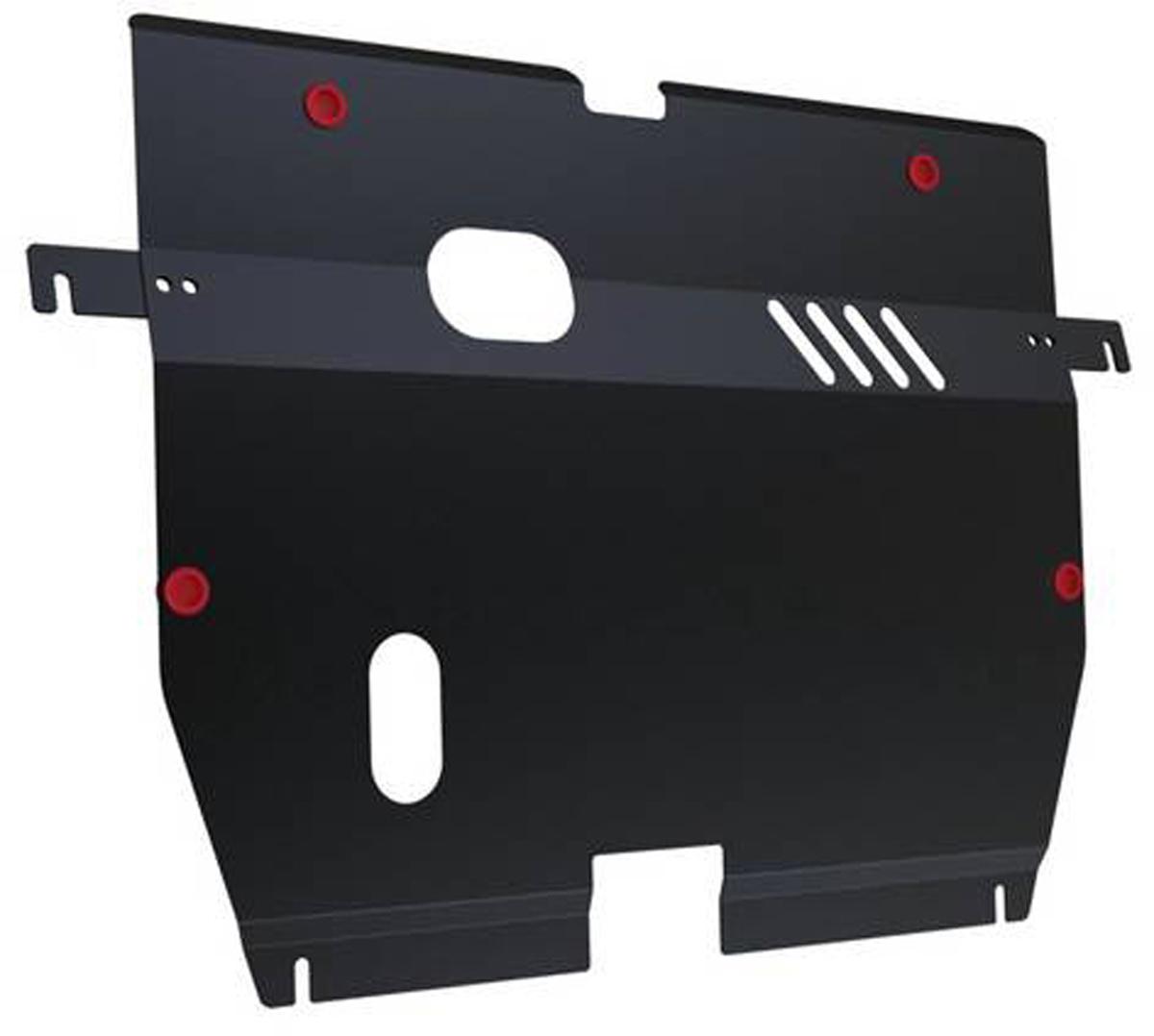 Защита картера и КПП Автоброня Hyundai Sonata 2005-2010, сталь 2 мм111.02311.1Защита картера и КПП Автоброня Hyundai Sonata NF, V - 2,0; 2,4 2005-2010, сталь 2 мм, комплект крепежа, 111.02311.1Стальные защиты Автоброня надежно защищают ваш автомобиль от повреждений при наезде на бордюры, выступающие канализационные люки, кромки поврежденного асфальта или при ремонте дорог, не говоря уже о загородных дорогах. - Имеют оптимальное соотношение цена-качество. - Спроектированы с учетом особенностей автомобиля, что делает установку удобной. - Защита устанавливается в штатные места кузова автомобиля. - Является надежной защитой для важных элементов на протяжении долгих лет. - Глубокий штамп дополнительно усиливает конструкцию защиты. - Подштамповка в местах крепления защищает крепеж от срезания. - Технологические отверстия там, где они необходимы для смены масла и слива воды, оборудованные заглушками, закрепленными на защите. Толщина стали 2 мм. В комплекте крепеж и инструкция по установке.Уважаемые клиенты! Обращаем ваше внимание на тот факт, что защита имеет форму, соответствующую модели данного автомобиля. Наличие глубокого штампа и лючков для смены фильтров/масла предусмотрено не на всех защитах. Фото служит для визуального восприятия товара.