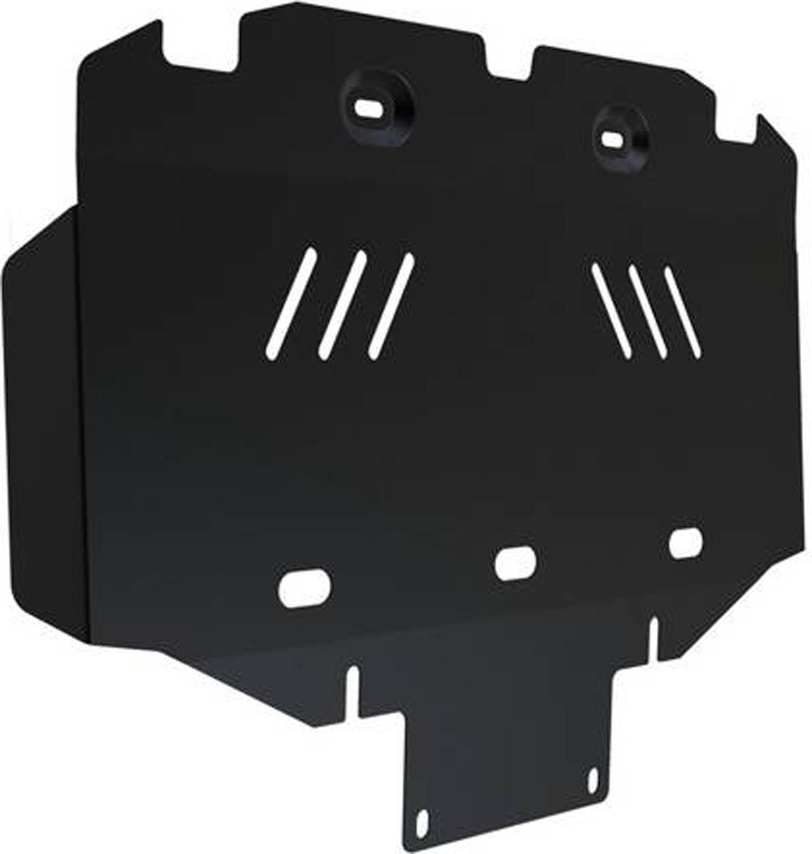Защита радиатора и картера Автоброня Hyundai H1 2007-, сталь 2 мм111.02334.1Защита радиатора и картера Автоброня Hyundai H1 2007-, сталь 2 мм, комплект крепежа, 111.02334.1 Дополнительно можно приобрести другие защитные элементы из комплекта: защита КПП ч.1 - 111.02335.1, защита КПП ч.2 - 111.02336.1Стальные защиты Автоброня надежно защищают ваш автомобиль от повреждений при наезде на бордюры, выступающие канализационные люки, кромки поврежденного асфальта или при ремонте дорог, не говоря уже о загородных дорогах. - Имеют оптимальное соотношение цена-качество. - Спроектированы с учетом особенностей автомобиля, что делает установку удобной. - Защита устанавливается в штатные места кузова автомобиля. - Является надежной защитой для важных элементов на протяжении долгих лет. - Глубокий штамп дополнительно усиливает конструкцию защиты. - Подштамповка в местах крепления защищает крепеж от срезания. - Технологические отверстия там, где они необходимы для смены масла и слива воды, оборудованные заглушками, закрепленными на защите. Толщина стали 2 мм. В комплекте крепеж и инструкция по установке.Уважаемые клиенты! Обращаем ваше внимание на тот факт, что защита имеет форму, соответствующую модели данного автомобиля. Наличие глубокого штампа и лючков для смены фильтров/масла предусмотрено не на всех защитах. Фото служит для визуального восприятия товара.