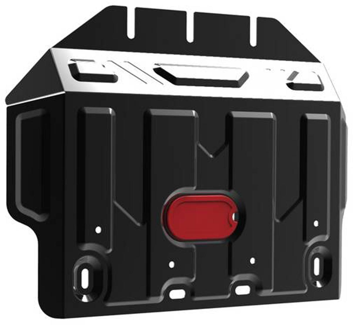 Защита картера Автоброня Lexus GX 460 2009-/Toyota LC150 2009-, часть 2 , сталь 2 мм111.05784.1Защита картера Автоброня для Lexus GX 460, V - 4,6 2009-/Toyota LC150, V - 2,7; 3,0TD; 4,0; 2,8TD 2009-, часть 2 , сталь 2 мм, комплект крепежа, 111.05784.1 Дополнительно можно приобрести другие защитные элементы из комплекта: защита картера ч.1 - 111.05783.1, защита КПП и РК - 111.05785.1Стальные защиты Автоброня надежно защищают ваш автомобиль от повреждений при наезде на бордюры, выступающие канализационные люки, кромки поврежденного асфальта или при ремонте дорог, не говоря уже о загородных дорогах. - Имеют оптимальное соотношение цена-качество. - Спроектированы с учетом особенностей автомобиля, что делает установку удобной. - Защита устанавливается в штатные места кузова автомобиля. - Является надежной защитой для важных элементов на протяжении долгих лет. - Глубокий штамп дополнительно усиливает конструкцию защиты. - Подштамповка в местах крепления защищает крепеж от срезания. - Технологические отверстия там, где они необходимы для смены масла и слива воды, оборудованные заглушками, закрепленными на защите. Толщина стали 2 мм. В комплекте крепеж и инструкция по установке.Уважаемые клиенты! Обращаем ваше внимание на тот факт, что защита имеет форму, соответствующую модели данного автомобиля. Наличие глубокого штампа и лючков для смены фильтров/масла предусмотрено не на всех защитах. Фото служит для визуального восприятия товара.