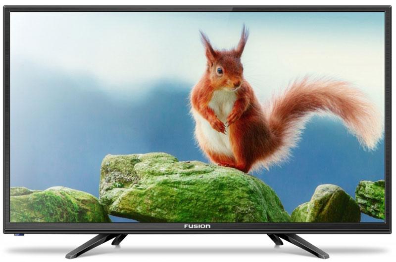 Fusion FLTV-24B100, Black телевизор fusion fltv 32h100 black телевизор