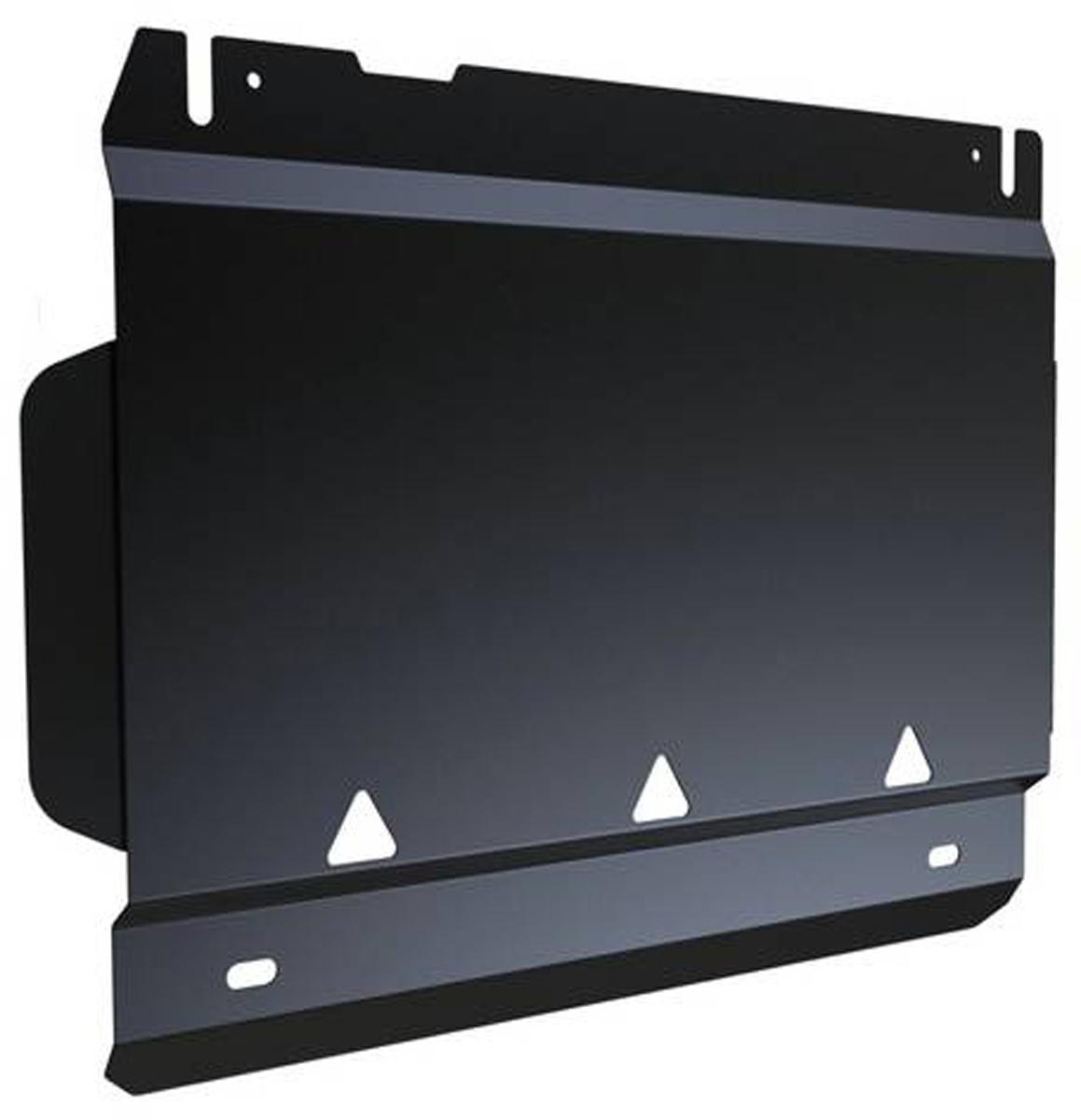Защита РК Автоброня Ford Ranger 2012-, сталь 2 мм111.01832.1Защита РК Автоброня Ford Ranger, V - 2,2 2012-, сталь 2 мм, комплект крепежа, 111.01832.1 Дополнительно можно приобрести другие защитные элементы из комплекта: защита радиатора - 111.01829.1, защита картера - 111.01830.1, защита КПП - 111.01831.1Стальные защиты Автоброня надежно защищают ваш автомобиль от повреждений при наезде на бордюры, выступающие канализационные люки, кромки поврежденного асфальта или при ремонте дорог, не говоря уже о загородных дорогах. - Имеют оптимальное соотношение цена-качество. - Спроектированы с учетом особенностей автомобиля, что делает установку удобной. - Защита устанавливается в штатные места кузова автомобиля. - Является надежной защитой для важных элементов на протяжении долгих лет. - Глубокий штамп дополнительно усиливает конструкцию защиты. - Подштамповка в местах крепления защищает крепеж от срезания. - Технологические отверстия там, где они необходимы для смены масла и слива воды, оборудованные заглушками, закрепленными на защите. Толщина стали 2 мм. В комплекте крепеж и инструкция по установке.Уважаемые клиенты! Обращаем ваше внимание на тот факт, что защита имеет форму, соответствующую модели данного автомобиля. Наличие глубокого штампа и лючков для смены фильтров/масла предусмотрено не на всех защитах. Фото служит для визуального восприятия товара.