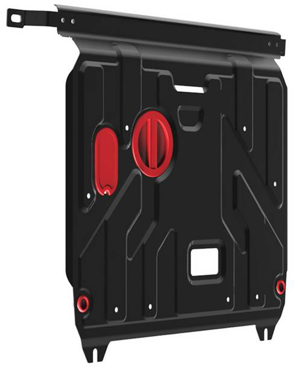 Защита картера и КПП Автоброня Hyundai Solaris 2011-2016/Kia Rio 2011-2016, сталь 2 мм111.02343.1Защита картера и КПП Автоброня для Hyundai Solaris, V - 1,4; 1,6 2011-2016/Kia Rio картер, V - 1,4; 1,6 2011-2016, сталь 2 мм, комплект крепежа, 111.02343.1Стальные защиты Автоброня надежно защищают ваш автомобиль от повреждений при наезде на бордюры, выступающие канализационные люки, кромки поврежденного асфальта или при ремонте дорог, не говоря уже о загородных дорогах.- Имеют оптимальное соотношение цена-качество.- Спроектированы с учетом особенностей автомобиля, что делает установку удобной.- Защита устанавливается в штатные места кузова автомобиля.- Является надежной защитой для важных элементов на протяжении долгих лет.- Глубокий штамп дополнительно усиливает конструкцию защиты.- Подштамповка в местах крепления защищает крепеж от срезания.- Технологические отверстия там, где они необходимы для смены масла и слива воды, оборудованные заглушками, закрепленными на защите.Толщина стали 2 мм.В комплекте крепеж и инструкция по установке.