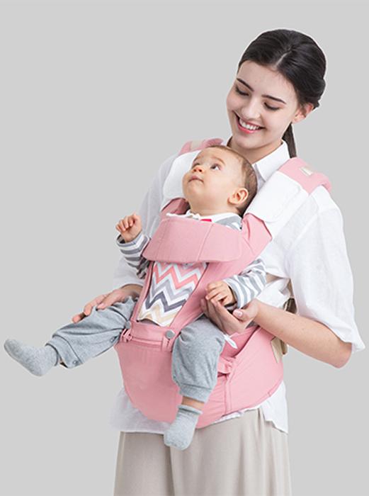 GlorYes! Эрго рюкзак + Хипсит Fresh Shine Premium Organic Фламинго