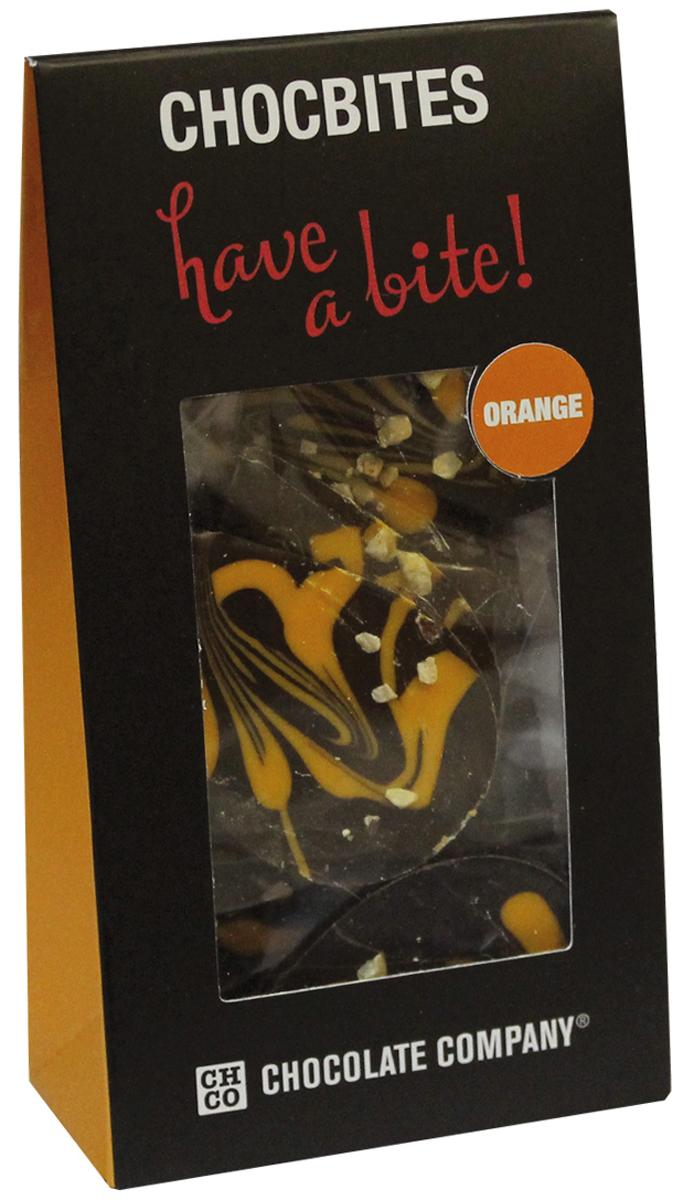 Chco Лепестки Апельсин темный дизайнерский узорный шоколад, 100 г karl fazer темный шоколад со вкусом апельсина 200 г