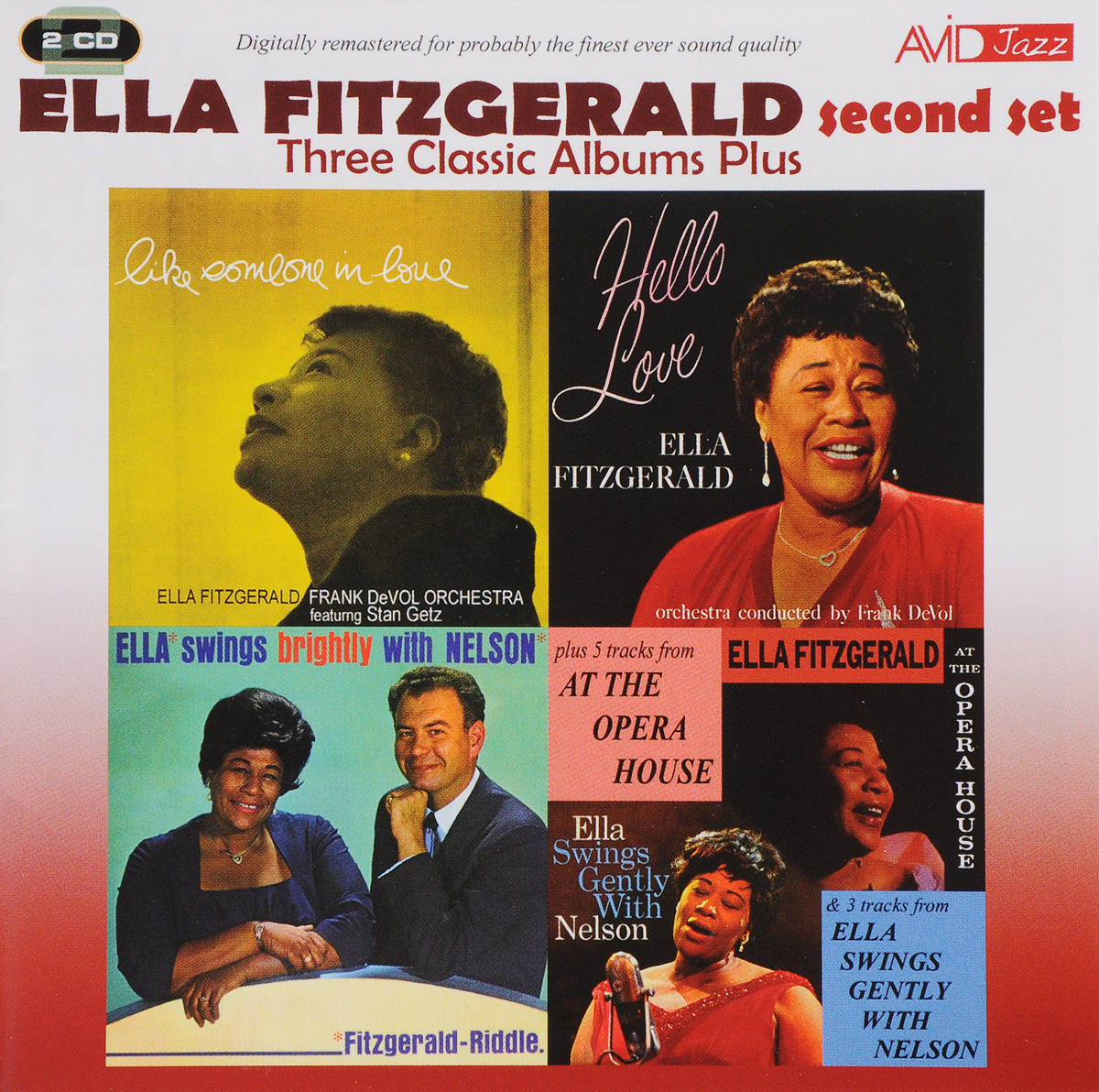 Ella Fitzgerald. Three Classic Albums Plus (Second set) (2 CD)