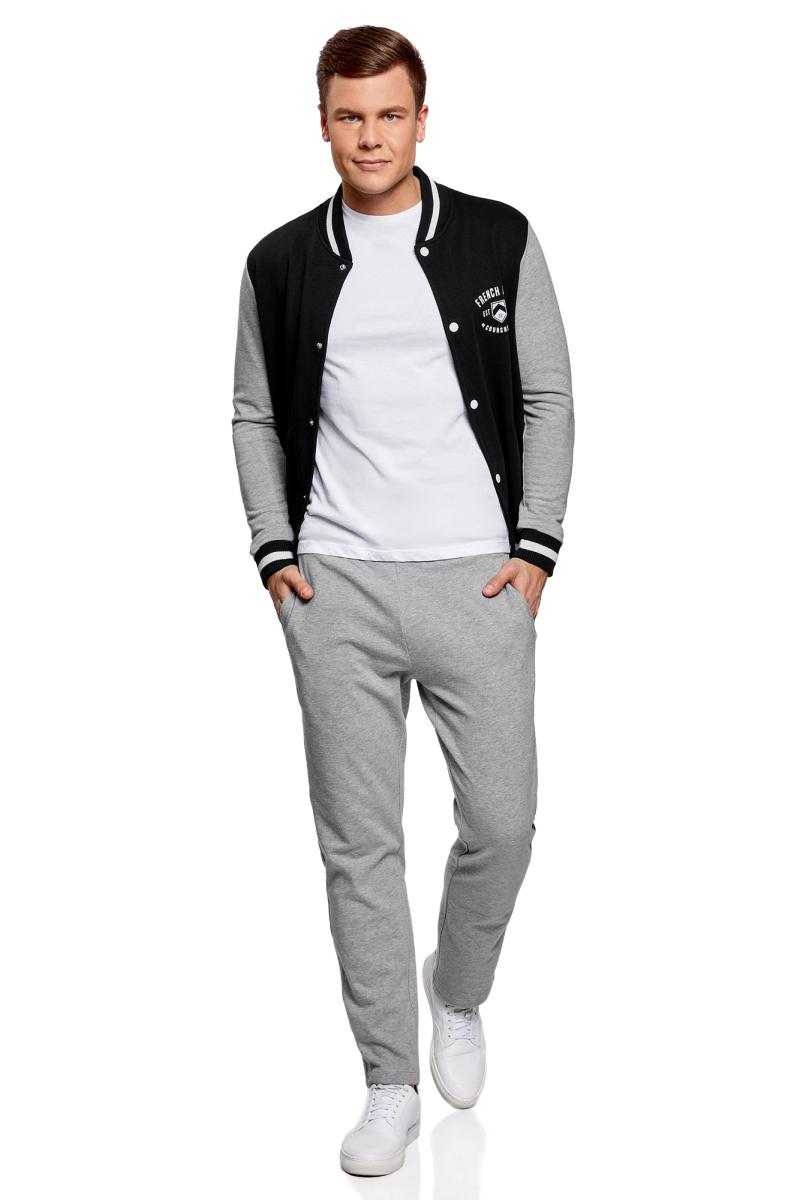 Куртка мужская oodji Lab, цвет: черный, серый. 5L912034M/46916N/2923B. Размер XXL (58/60) куртка мужская oodji basic цвет черный 5b911020m 44112n 2900n размер xxl 58 60