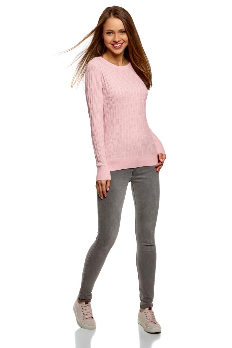все цены на Джемпер женский oodji Ultra, цвет: светло-розовый. 63812629/47519/4000N. Размер XS (42) онлайн