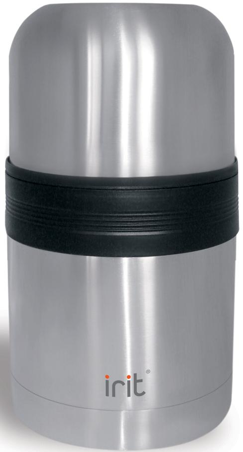 Термос Irit, 1 л. IRH-101IRH-101Термос Irit изготовлен из нержавеющей стали. Двойная вакуумная теплоизоляция стенок корпуса позволяет сохранять напитки теплыми 6 часов или холодными 12 часов. Крышка-стакан с пластиковой термостойкой вставкой не нагревается. Теплосберегающая пробка с клапаном предохраняет напитки от разливания. Благодаря широкому горлу термос можно использовать для супа.