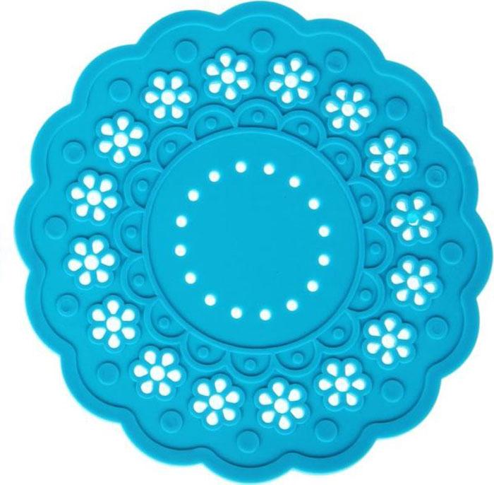 Набор подставок под горячее Доляна Затея, цвет: голубой, 2 шт1153294Силиконовая подставка под горячее - практичный предмет, который обязательно пригодится вхозяйстве. Изделие поможет сберечь столы, тумбы, скатерти и клеёнки от повреждениянагретыми сковородами, кастрюлями, чайниками и тарелками.