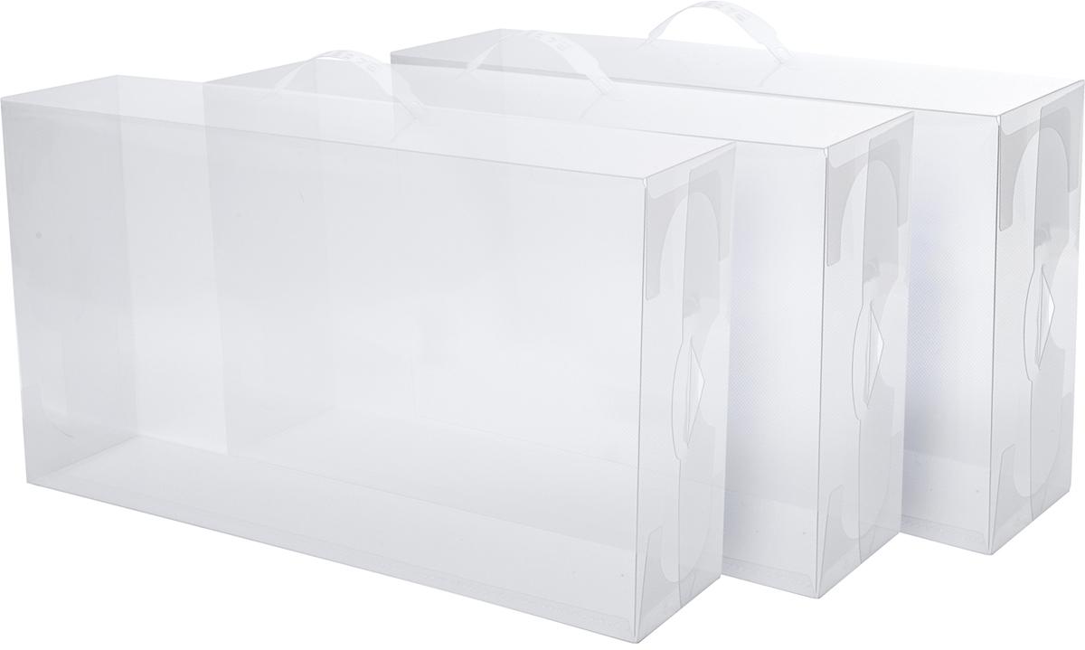 Набор коробок Homsu для женских сапог, 52 х 30 х 13 см, 3 штK-28Набор коробок Homsu для женских сапог выполнен из прочного пластика. В наборе 3 коробки, они легко собираются и разбираются, ставятся одна на другую. Коробки Homsu защищают обувь от пыли и загрязнений. Экономят время на поиск нужной пары обуви.