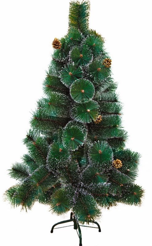 Сосна искусственная Neon-Night Новогодняя, с шишками, заснеженная, высота 120 см533-312Сосна искусственная Neon-Night Новогодняя, выполненная из ПВХ - прекрасный вариант для оформления вашего интерьера к Новому году. Такие деревья абсолютно безопасны для самых непоседливых малышей, удобны в сборке и не занимают много места при хранении.Сосна состоит из верхушки, сборного ствола, веток, вставляющихся в пазы, и металлической крестовины. Сосна быстро и легко устанавливается и имеет естественный и абсолютно натуральный вид, отличающийся от своих прототипов разве что совершенством форм и мягкостью иголок. Изделие украшено 10 шишками. Сосновые иголочки покрыты белым инеем, не осыпаются, не мнутся и не выцветают со временем. Полимерные материалы, из которых они изготовлены, не токсичны и не поддаются горению. Сосна искусственная Neon-Night Новогодняя обязательно создаст настроение волшебства и уюта, а так же станет прекрасным украшением дома на период новогодних праздников.