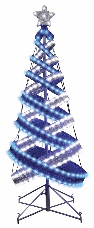 Декоративная ель Neon-Night в стиле Хайтек, светодиодная, 434 LED, с постоянным свечением, 120 см506-273Елка основана на пересекающихся светящихся кольцах разного размера, что добавляет ей необычности и завораживающей эффектности. Благодаря уникальной конструкции ее очень легко установить, а после праздничного периода можно очень компактно сложить без каких-либо значительных усилий и не потратив при этом много времени!