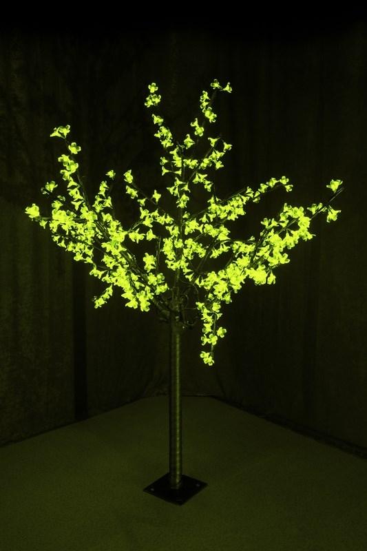 Светодиодное дерево Neon-Night Сакура, цвет: зеленый, диаметр кроны 130 см, высота 150 см531-304Световое дерево Сакура представляет собой имитацию цветущей японской сакуры. Оно используется для декоративного освещения интерьеров и ландшафтов. Такое дерево может стать прекрасным украшением для вашего дома, офиса, торгового зала, кафе, ресторана или загородного участка. Оно создаст уют, придаст оригинальный стиль и необходимый вам колорит независимо от времени года. Конструкция имеет лекгосплавной каркас в оболочке из темного пластика. На ветках дерева расположены яркие светодиодные гирлянды с силиконовыми насадками (цветками). Светодиодное дерево выглядит очень натурально.Питание осуществляется через сетевой трансформатор, поэтому изделие является низковольтным и может использоваться в уличных условиях. Диаметр кроны: 1,3 м. Высота дерева: 1,5 м.480 диодов.220-24В, 30Вт.