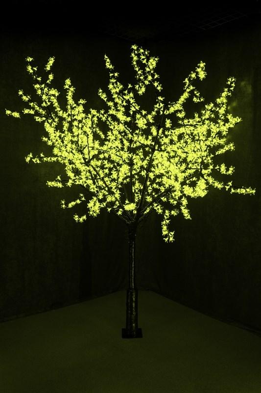 Светодиодное дерево Neon-Night Сакура, цвет: зеленый, диаметр кроны 200 см, высота 240 см531-124Световое дерево Сакура представляет собой имитацию цветущей японской сакуры. Оно используется для декоративного освещения интерьеров и ландшафтов. Такое дерево может стать прекрасным украшением для вашего дома, офиса, торгового зала, кафе, ресторана или загородного участка. Оно создаст уют, придаст оригинальный стиль и необходимый вам колорит независимо от времени года.Конструкция имеет лекгосплавной каркас в оболочке из темного пластика. На ветках дерева расположены яркие светодиодные гирлянды с силиконовыми насадками (цветками). Светодиодное дерево выглядит очень натурально. Питание осуществляется через сетевой трансформатор, поэтому изделие является низковольтным и может использоваться в уличных условиях.Диаметр кроны: 200 см.Высота дерева: 240 см.1728 лепестков.