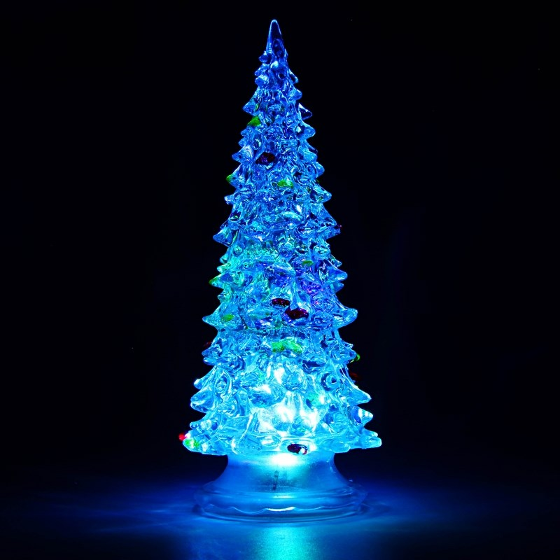 Фигура Neon-Night Елочка, светодиодная, 20 см513-023Фигура светодиодная Елочка выполнена из пластика. Внутри нее находитсяяркий RGB светодиод, который непрерывно меняет цвет свечения. Такаяелочка станет отличным подарком для создания новогоднего настроения иукрашением стола как в офисе, так и дома. Питание осуществляется припомощи 3 батареек типа AG13. Высота данной модели составляет 20 см.