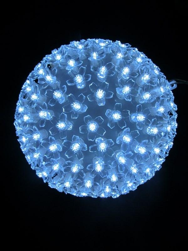 Шар Neon-Night, светодиодный, 200 LED, цвет: белый, 220V, диаметр 12 см513-267Эти изделия не потребуют дополнительных затрат для монтажа. Световые фигуры с дюралайтом нужно просто установить в желаемом месте и подвести питание 220 В. Шар светодиодный 220V, диаметр 20 см, 200 светодиодов, цвет белый, вилка питания в комплекте.