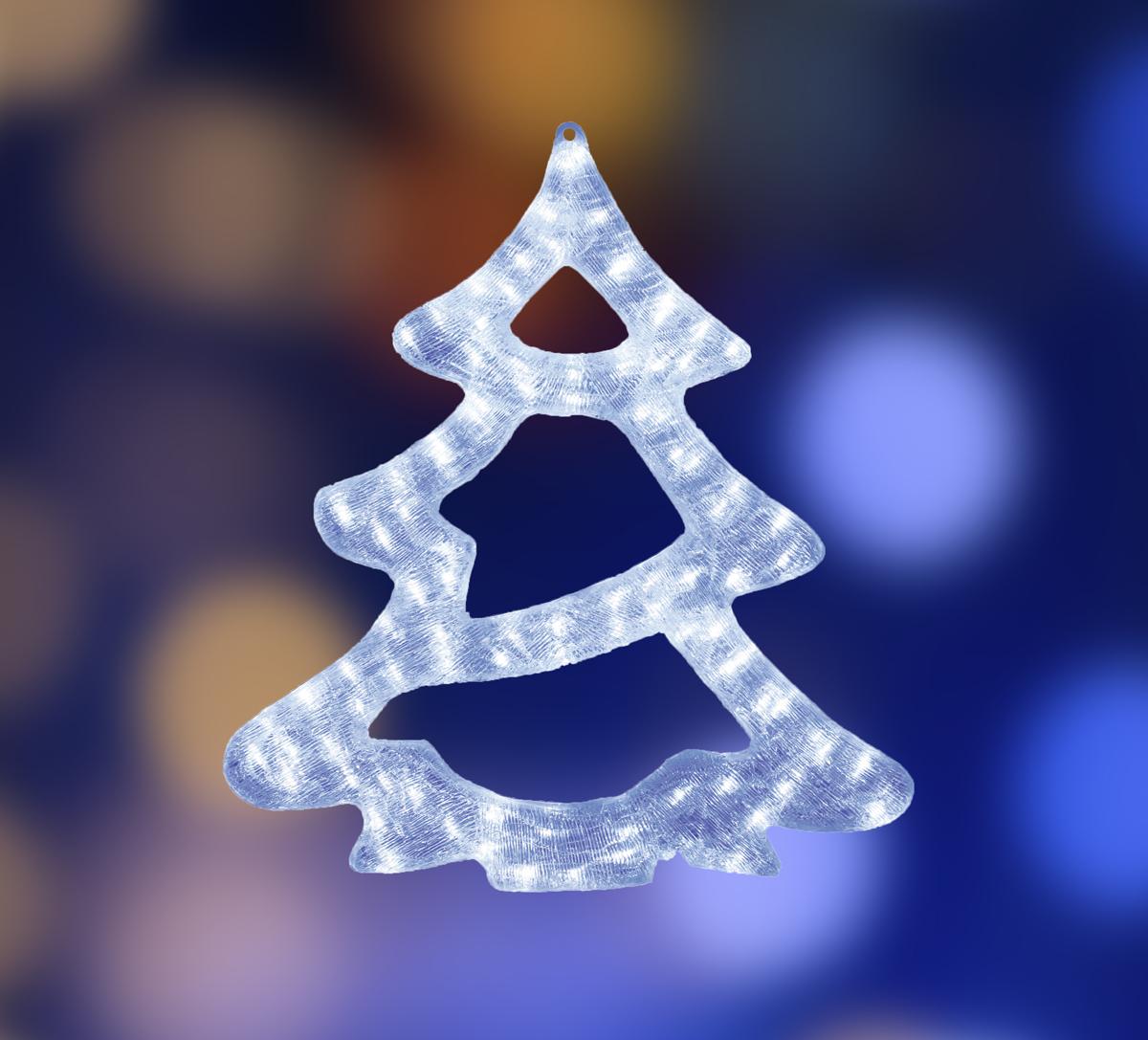 Акриловая светодиодная фигура Neon-Night Елочка, 84 LED, с понижающим трансформатором, 62 х 56 х 2,5 см513-344Акриловые фигуры за несколько лет вызвали большой интерес у дизайнеров и частных клиентов. С каждым годом расширяется не только ассортимент акриловых фигур, но и появляются новые технологии нанесения акрила. Эти яркие, светящиеся объемные фигуры, состоящие из металлического каркаса, акрила и светодиодов, применяются для оформления и создания новогодней атмосферы в кафе, ресторанах, торговых центрах, магазинах, на площадях и перед входом, а также просто в частных домах и квартирах. Все фигуры укомплектованы понижающим трансформатором , что обеспечивает безопасность при контактировании, а так же имеют степень защиты IP 44, что позволяет использовать их как в помещении, так и на улице. Акриловая светодиодная фигура Елочка высотой 62 см, светящаяся более чем 84 ярких диодов, выполнена по специальной технологии нанесения акрила. Новинка этого сезона позволит Вам создать ту самую, настояющую новогоднюю атмосферу и принести сотни радостных улыбок.