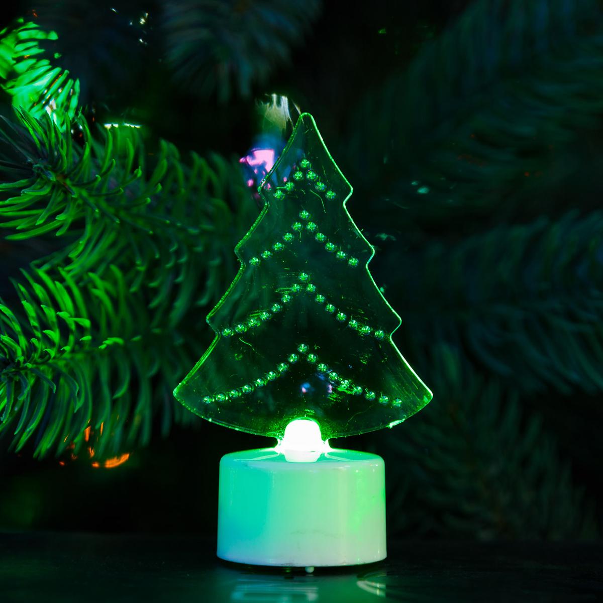 Фигура светодиодная Neon-Night Елочка 2D, на подставке, RGB501-045Светодиодная фигура на подставке Neon-Night Елочка 2D станет прекрасным украшением домашнего интерьера, рабочего стола или послужит просто символичным новогодним комплиментом.Фигура работает от батареек LR44 (в комплекте), плавная смена цвета (RGB) создаст приятное праздничное настроение.