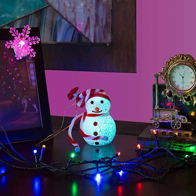 Комплект Neon-Night Подарочный, для новогоднего украшения дома, цвет гирлянд: мультиколор. 500-069500-069Не секрет, что самое хлопотное время в году - предновогоднее. Люди тратят массу времени и сил на поиск подарков для своих родных, близких, коллег и друзей. Подчас просто не остается времени на украшение дома и создание того самого желанного предновогоднего настроения. Не знаешь, как порадовать друзей и коллег в предновогодней суете? Сделай им новогодний комплимент в виде Подарочного набора.В нем все просто и лаконично:- Универсальная гирлянда размером 4 м. Можно украсить елку, или просто разложить на полке или диване. - Светящийся настольный Снеговичок. Особенность такой фигурки - смена цвета свечения в пределах 256 цветов. - Светящаяся новогодняя фигурка на присоске. Особенность такой фигурки - смена цвета свечения в пределах 256 цветов. Набор уже укомплектован всеми необходимыми батарейками. Подарите новогоднее настроение себе и близким, украсив комнату всего 10 минут!