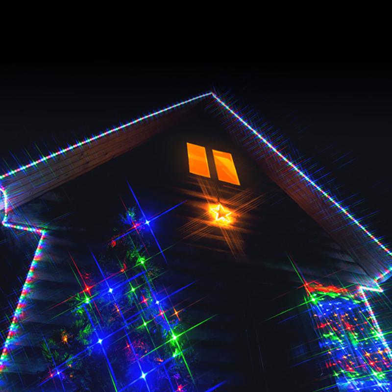Комплект Neon-Night Standard, для новогоднего украшения дома, цвет гирлянд: мультиколор. 500-079500-079Особое очарование Новогодних праздников ощущаешь, находясь за пределами города. Заснеженный лес, нехоженые тропинки, чистый воздух и уединение. Но по-настоящему сказочная атмосфера рождается с заходом солнца, когда в свете фонарей начинают искриться снежинки, когда зажигается уютный камин и близкие собираются вместе. Чтобы придать своему дому индивидуальность и сделать его празднично-красивым не только внутри, но и снаружи, стоит подумать о его новогоднем декорировании. Комплект Standard - базовый набор. В нем собраны самые необходимые и в тоже время, разнообразные украшения дома с размером фасада до 10 метров.Состав набора:- Две контуровочные гирлянды Дюралайт (6м и 14м), чтобы подчеркнуть геометрию и контуры вашего дома.- Гирлянда на окно Сеть, размером 1,5х1 м.- Универсальная гирлянда Твинкл-лайт, которая украсит вашу елку или любое другое дерево.- Светодиодная фигура Звездочка для оживления фасада.Набор уже укомплектован всеми необходимыми крепежами. Подарите новогоднее настроение себе и близким, украсив свой дом за один вечер!