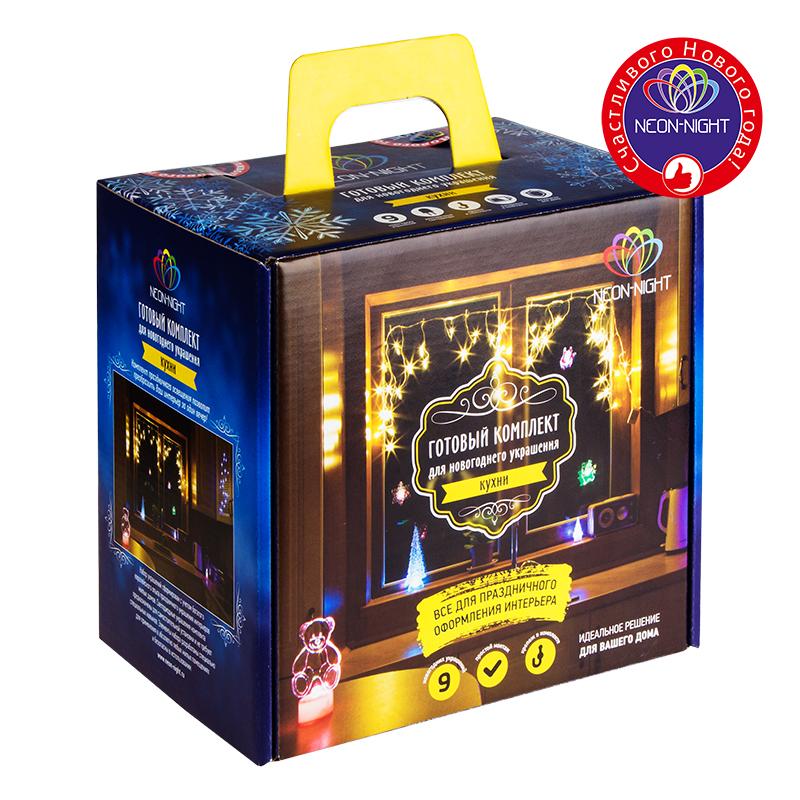 Комплект Neon-Night Кухня, для новогоднего украшения дома, цвет гирлянд: синий. 500-003 комплект neon night кухня для новогоднего украшения дома цвет гирлянд мультиколор 500 009