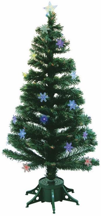 Ель искусственная Neon-Night Снежинка, напольная, с подсветкой, с декоративными украшениями, высота 120 см533-202Искусственная ель Neon-Night Снежинка, выполненная из ПВХ, украшена 27 снежинками, имеет 125 веток и высоту 120 см. Отдельные ветви ели снабжены оптоволокном и светодиодными лампочками, к которым прикрепляются декоративные снежинки. Вершина ели украшена светодиодной звездой. Питание от сети. Диаметр подставки: 16 см.