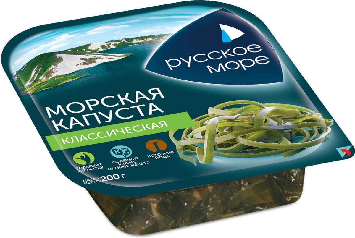 Русское Море Капуста морская маринованная Классическая, 200 г