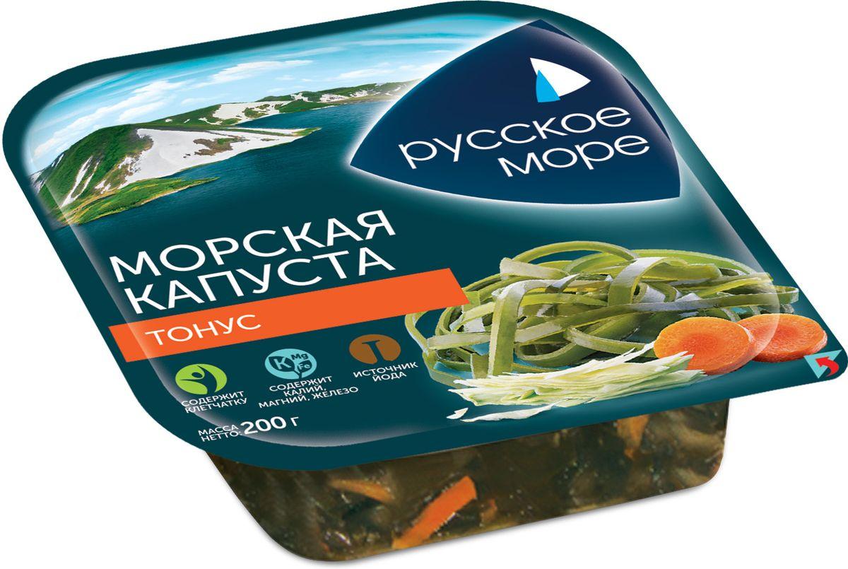 Русское Море Капуста морская маринованная Тонус, 200 г морепродукты рыба