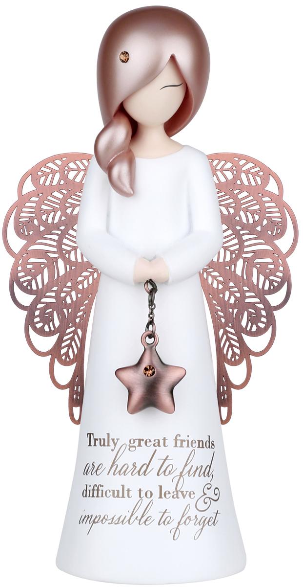 Статуэтка You are an Angel Поистине настоящих друзей трудно найти, с ними трудно расставаться и невозможно забыть!, 6,3 х 12,5 смASF006Статуэтка You are an Angel выполнена из полирезина с элементами металла. На протяжении всей вашей жизни, вы встречаете людей, которые формируют ваше будущее различными способами.Это - ваши родные, близкие, родственники, друзья, с которыми вы дружите с детства, или просто знакомые, с которыми вы пересекаетесь на вашем жизненном пути. Они оставляют неизгладимые впечатления в вашей памяти и в вашей душе благодаря своей заботе, любви, поддержке и пониманию. Коллекция Вы - Ангел была создана, чтобы выразить особенные слова благодарности и признания этим значимым людям.Они - наши герои и образцы для подражания, которых мы никогда не забудем. Они - наши Ангелы!