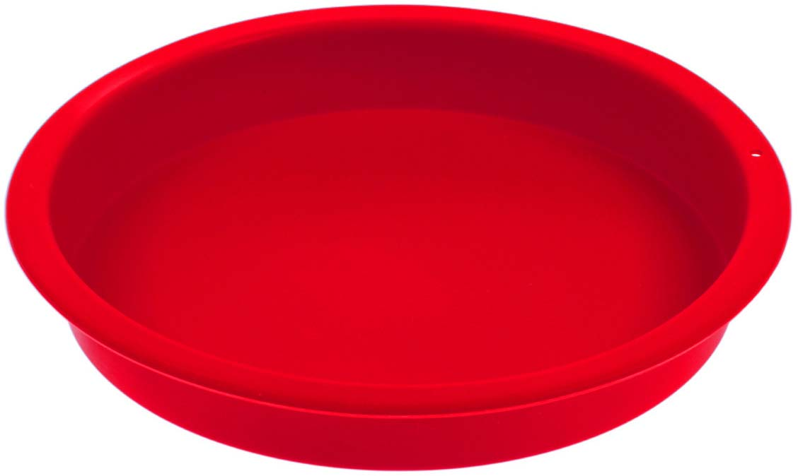 "Форма для выпечки Доляна ""Круг"", цвет: красный, 22 х 3 см"