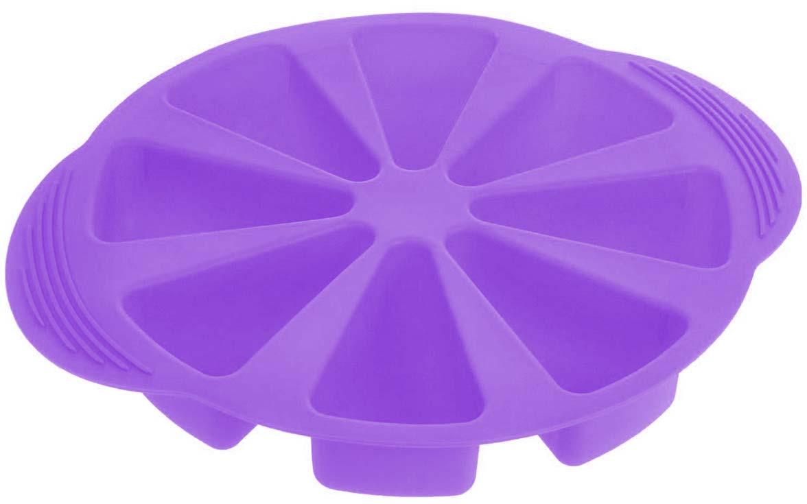 """Форма для выпечки Доляна """"Кусочки торта"""", цвет: сиреневый, 32 х 27 х 4,5 см, 8 ячеек   Как выбрать форму для выпечки – статья на OZON Гид."""