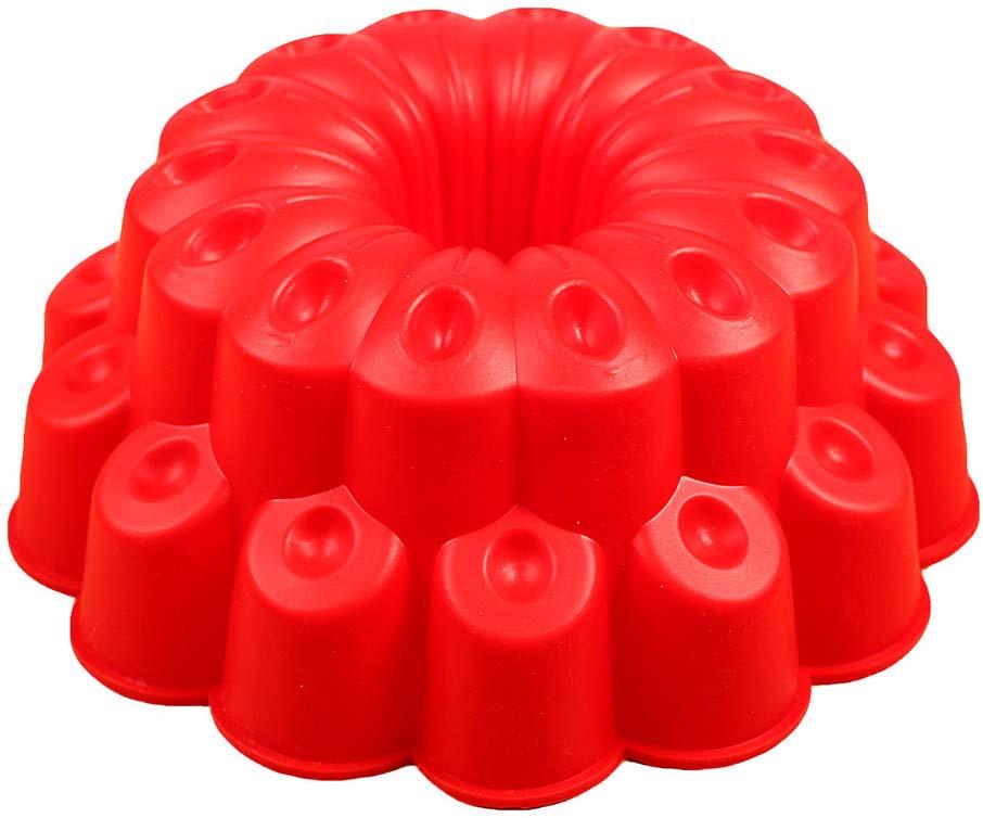 Форма для выпечки Доляна Иллюзия, цвет: красный, 25 х 14 см