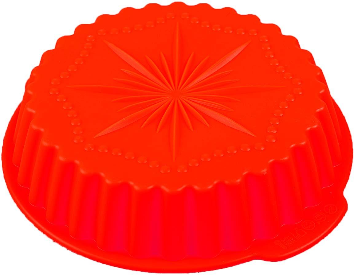 Форма для выпечки Доляна Звезда, цвет: красный, 20 х 4 см