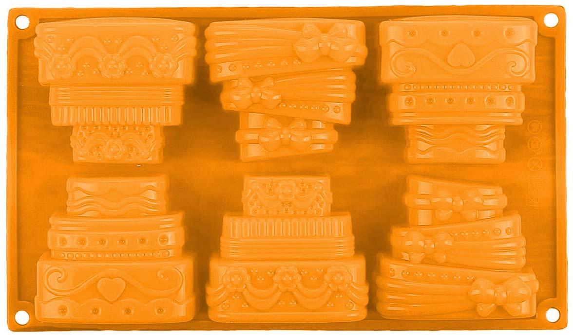 """Форма Доляна """"Торты"""" выполнена из силикона, благодаря этому выпечку   вынимать легко и просто. Материал устойчив к фруктовым кислотам, может быть   использован в духовках и микроволновых печах.  Перед первым применением   промойте предмет тёплой водой.   В процессе приготовления используйте кухонный инструмент из дерева,   пластика или силикона.   Перед извлечением блюда из силиконовой формы дайте ему немного остыть,   осторожно отогните края предмета.   Готовьте с удовольствием!     Как выбрать форму для выпечки – статья на OZON Гид."""