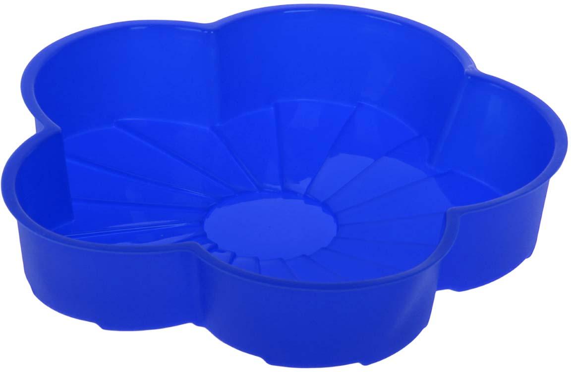 Форма для выпечки Доляна Цветик, силиконовая, цвет: синий, 20 х 20 х 4,5 см114015_синийФорма для выпечки Доляна Цветик, силиконовая, цвет: синий, 20 х 20 х 4,5 см