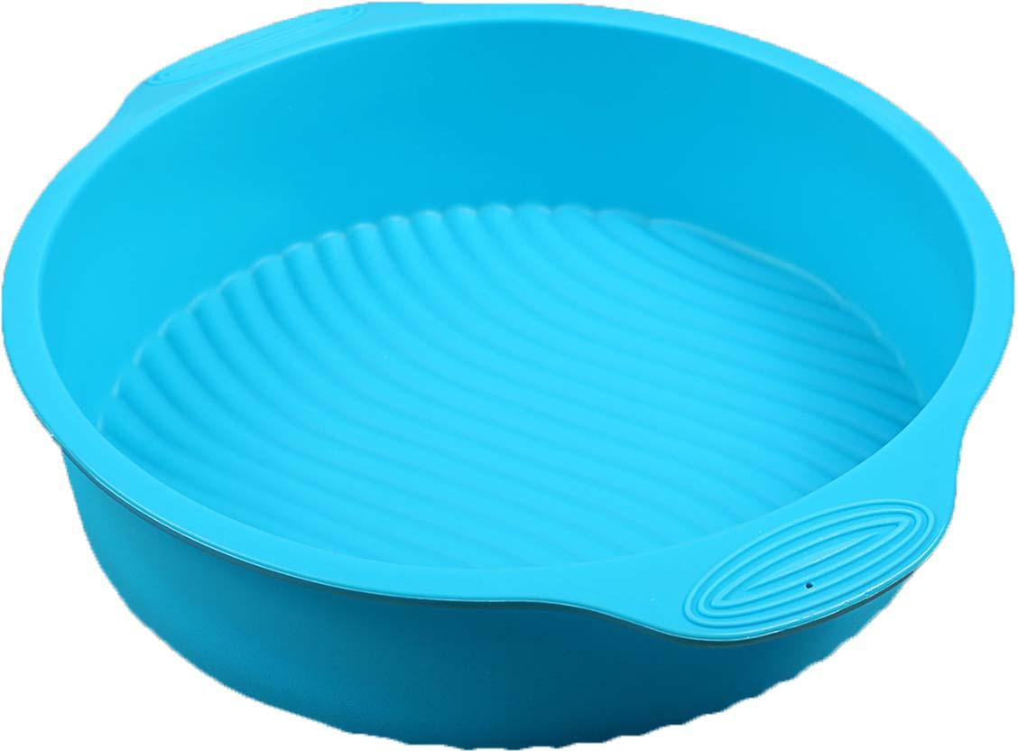 Форма для выпечки Доляна Круг с ручками, цвет: голубой, 28,5 х 25 х 6 см118940_голубойФорма для выпечки Доляна Круг с ручками, цвет: голубой, 28,5 х 25 х 6 см