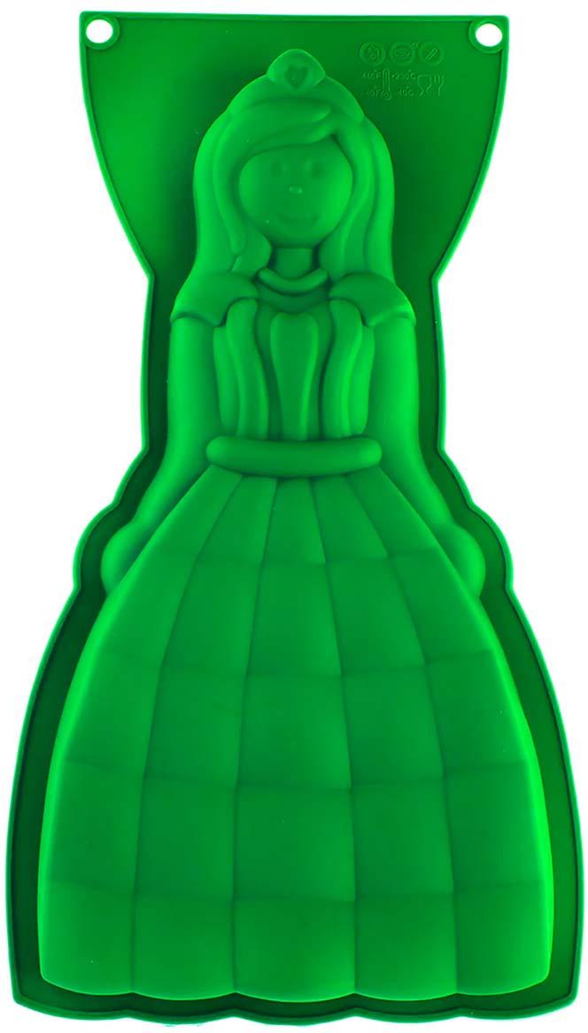 Форма для выпечки Доляна Леди, цвет: салатовый, 32 х 17,5 х 4 см1210674_салатовыйФорма для выпечки Доляна Леди, цвет: салатовый, 32 х 17,5 х 4 см