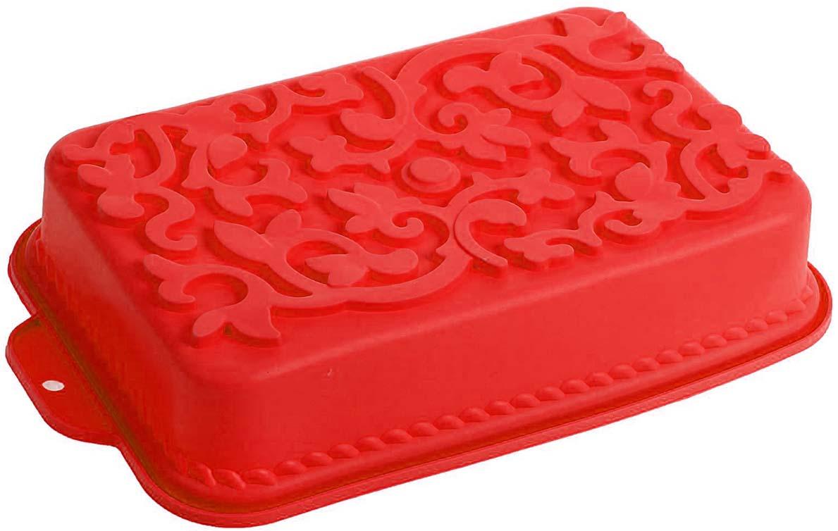Форма для выпечки Доляна Ажур, цвет: красный, 34 х 19 х 6,5 см1687524_красныйФорма для выпечки Доляна Ажур, цвет: красный, 34 х 19 х 6,5 см