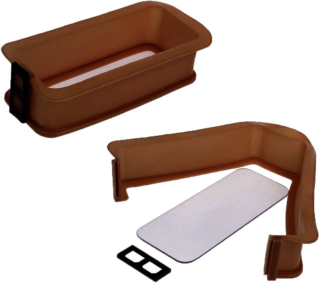 Форма для выпечки Доляна Прямоугольник, со стеклянным дном, цвет: коричневый, 28,7 х 13,3 х 8 см1857425_коричневыйФорма для выпечки Доляна Прямоугольник, разборная, со стеклянным дном, имеет массу преимуществ: - возможность приготовить выпечку с «крепкими», устойчивыми краями; - легкость извлечения готовых блюд; - стойкость к коррозии. Избегайте перегрева формы: рекомендуется ставить посуду в духовку только с содержимым. При мойке не используйте абразивные материалы. Как выбрать форму для выпечки – статья на OZON Гид.