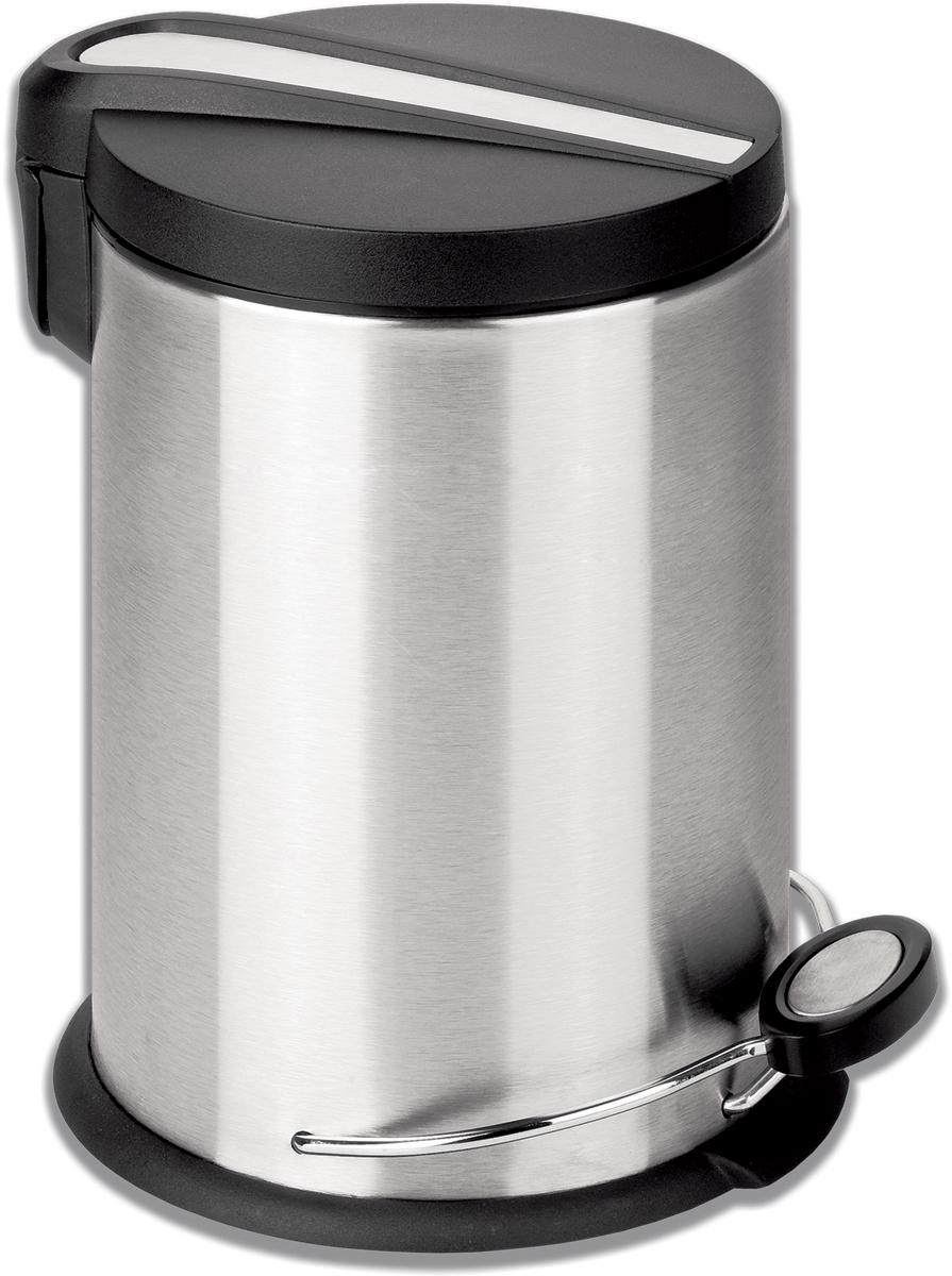Ведро-контейнер для мусора Лайма Modern, с педалью, цвет: серебристый, 30 л ведро контейнер для мусора лайма classic с педалью цвет серебристый 30 л