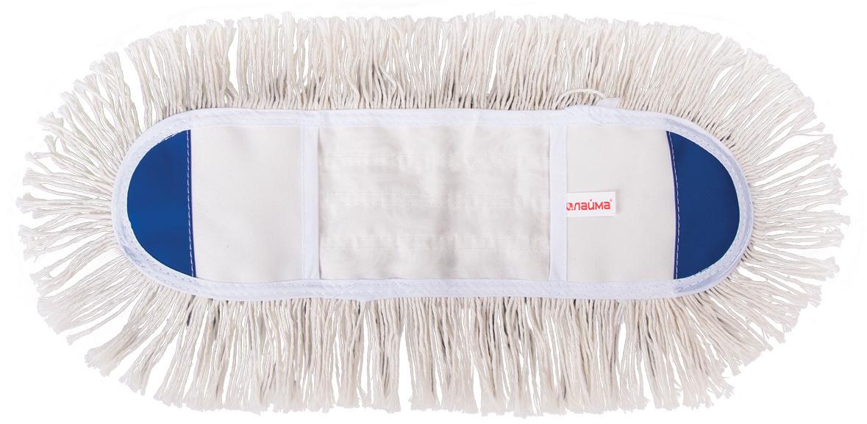 Насадка для швабры-рамки Лайма Моп, с карманами, цвет: бежевый, 40 х 11 см