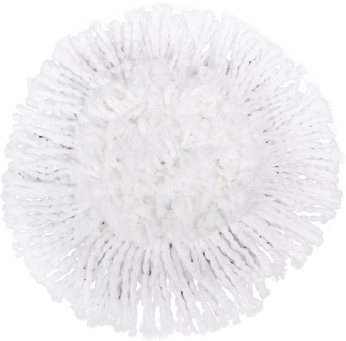 Насадка для швабры Лайма Моп, на липучке, цвет: белый, диаметр 16 см601487Круглая насадка с длинным ворсом Лайма предназначена для проведения влажной уборки. Используется со шваброй из набора для уборки. Изготовлена из микрофибры, крепится к держателю швабры на липучку.